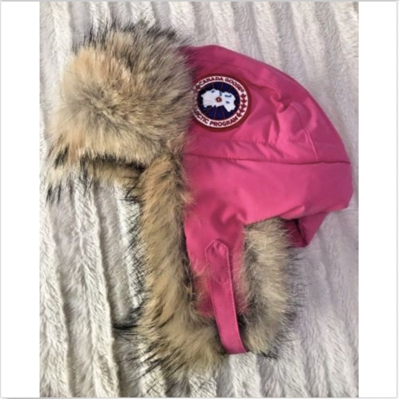 Canada Goose Accessories - Canada Goose Pink Coyote Trapper Hat L XL NEW bb61a09fc39d